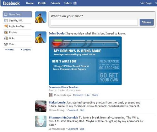 Domino S Pizza Tracker Cooks On Facebook Socialnext